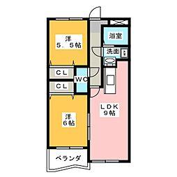 グランドゥール[1階]の間取り