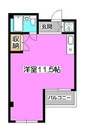 埼玉県所沢市金山町の賃貸マンションの間取り