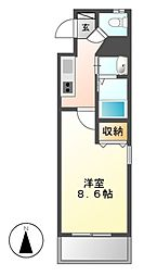 カスタリア名駅南[8階]の間取り