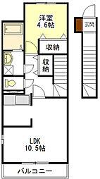 ビバJ・N・S[2階]の間取り