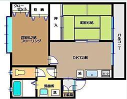 グリーンハウス中里[2階]の間取り