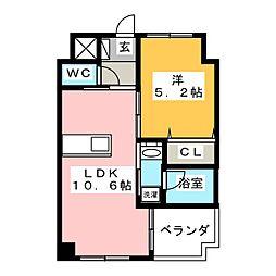 ピュアライン医大東[6階]の間取り