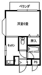 ロイヤルシャトル大倉山[102号号室]の間取り