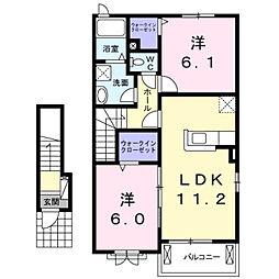 彦島迫町6丁目アパート[205号室]の間取り