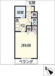TYスタジオアパートメント[2階]の間取り