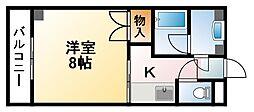 千葉県東金市川場の賃貸マンションの間取り