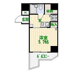 コスモ亀有V[7階]の間取り