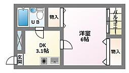 JPアパートメント東住吉II[4階]の間取り