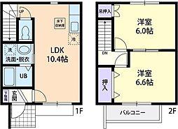 [テラスハウス] 茨城県小美玉市部室 の賃貸【/】の間取り
