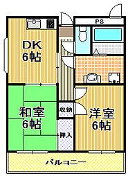 第6武田マンション[3階]の間取り