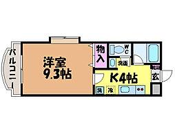 愛媛県松山市樽味4丁目の賃貸マンションの間取り