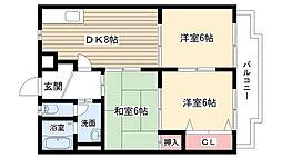 愛知県名古屋市守山区小幡中1丁目の賃貸マンションの間取り