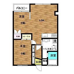 第2小林マンション[305号室]の間取り