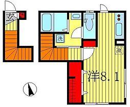ラ・メゾンドソレイユ[2階]の間取り