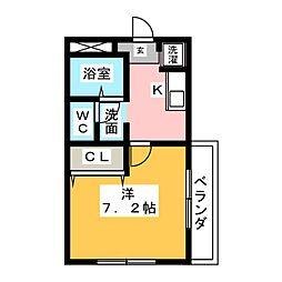 ライラック[2階]の間取り