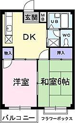 新井ハイツ II[0201号室]の間取り