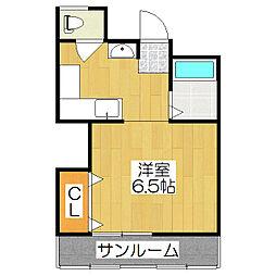 葛城マンション[311号室]の間取り