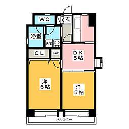 エステートモア箱崎[2階]の間取り