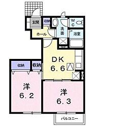 ラフィネシャトレーII番館[1階]の間取り
