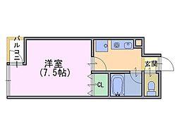 エレガンス岡崎[2階]の間取り