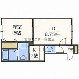 北海道札幌市北区太平八条5丁目の賃貸アパートの間取り