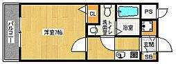 京都府京都市右京区西京極西大丸町の賃貸マンションの間取り