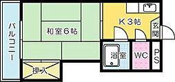 プレジール中原東[403号室]の間取り
