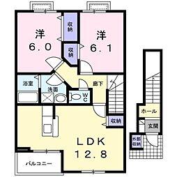 マウントシティ2A[2階]の間取り