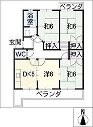 浅野マンション[4階]の間取り