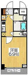 エスライズ京都河原町[9階]の間取り