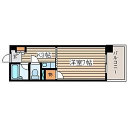 ジャスティヒルト高須[4階]の間取り