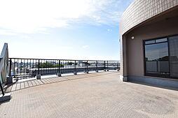 約50.40平米の開放感のあるルーフバルコニー