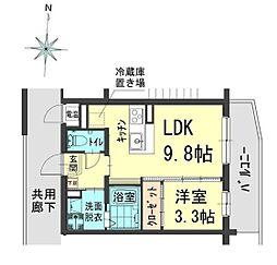 アウトルック 4階1LDKの間取り