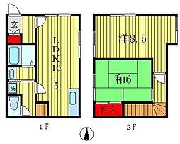 [テラスハウス] 東京都葛飾区堀切7丁目 の賃貸【/】の間取り