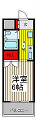 ジョイフル浦和[2階]の間取り