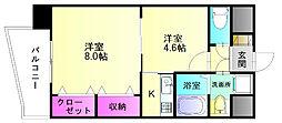 シャロームミキ[8階]の間取り