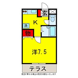 ラピドマンション[1階]の間取り