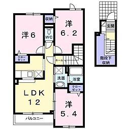 北海道滝川市泉町の賃貸アパートの間取り