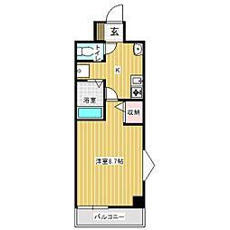 リバティープラザ花園II[8階]の間取り