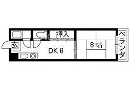銀閣寺ハイツ[702号室号室]の間取り