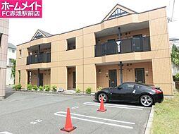 愛知県名古屋市緑区桶狭間上の山の賃貸アパートの外観