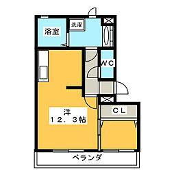 グランルフレ[3階]の間取り