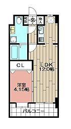 ローズモントフレア博多駅東(302)[302号室]の間取り