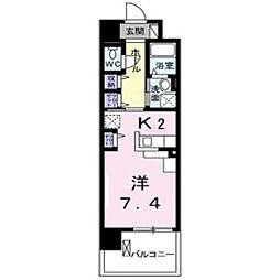 グランデ新宿[502号室]の間取り
