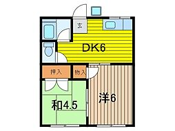 信州荘[102号室]の間取り