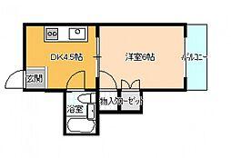 沖田ビル[4階]の間取り