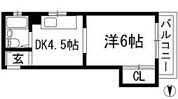 フェリシエ池田[5階]の間取り