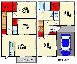 福岡県福岡市博多区麦野3丁目の賃貸アパートの間取り