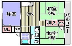 セジュール藤田[105号室]の間取り