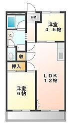 トヨタハイツI[2階]の間取り
